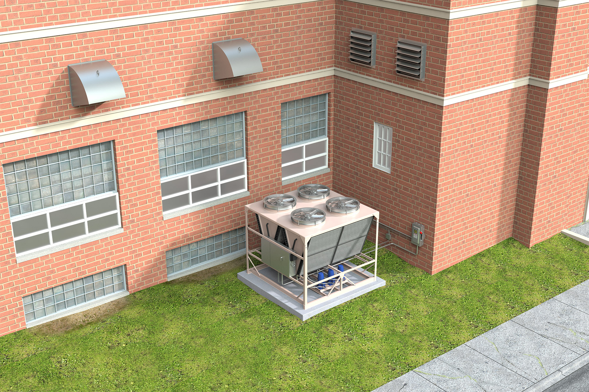 DDR & DDP Chiller School (Application) Modo Rendering
