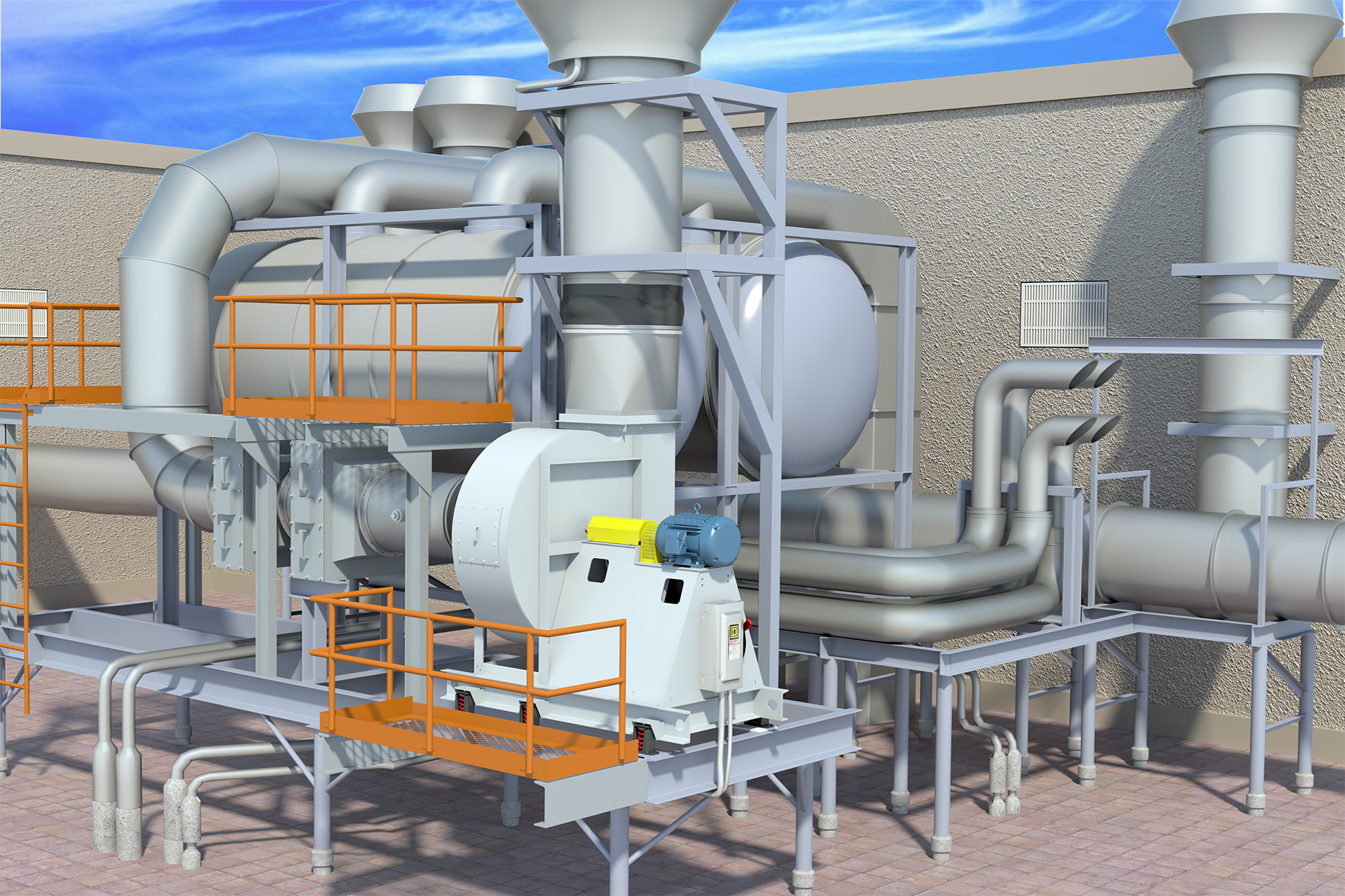 MH Energy Recovery System (Application) Modo Rendering