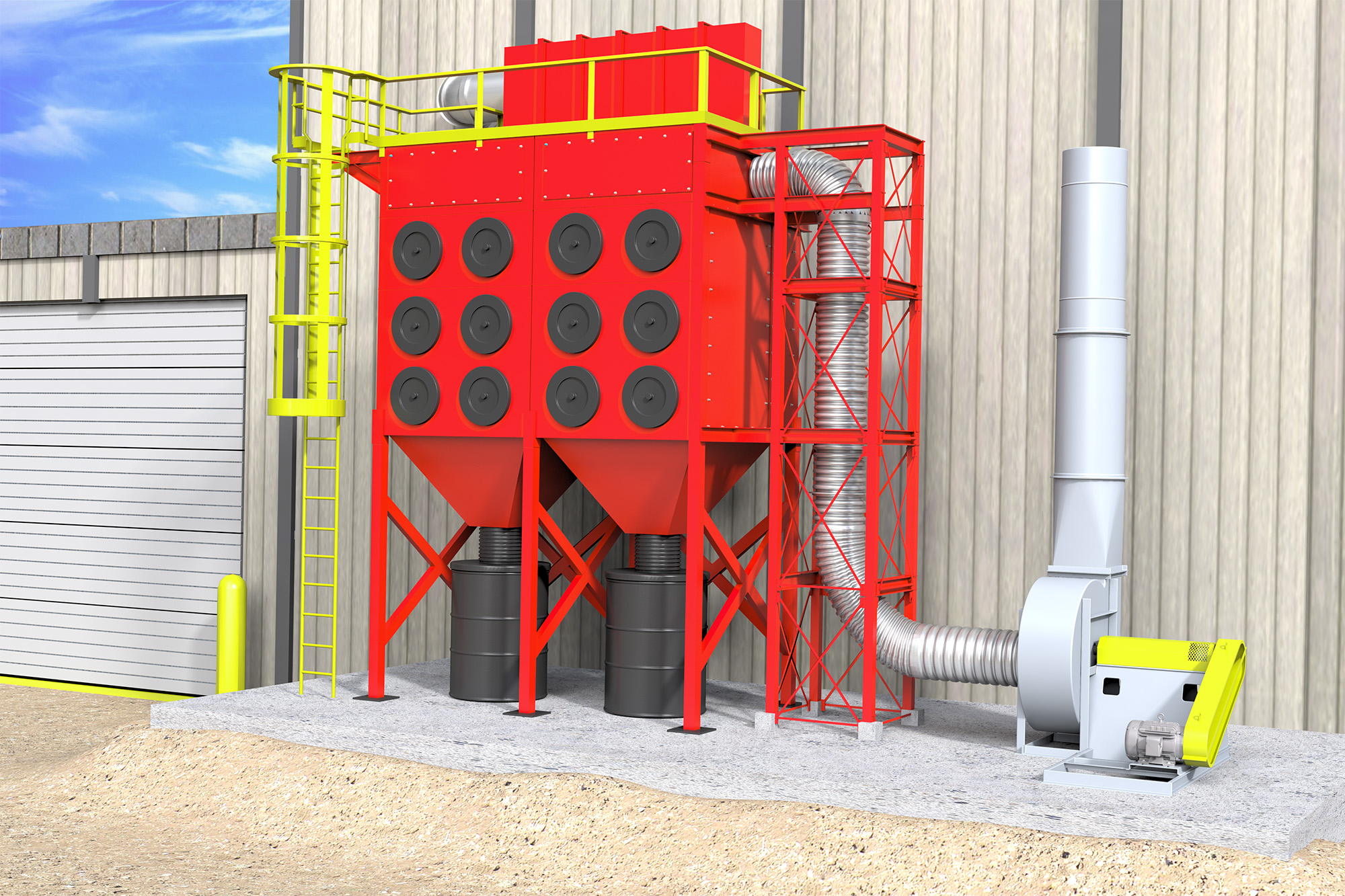 MHA Dust Collector (Application) Modo Rendering