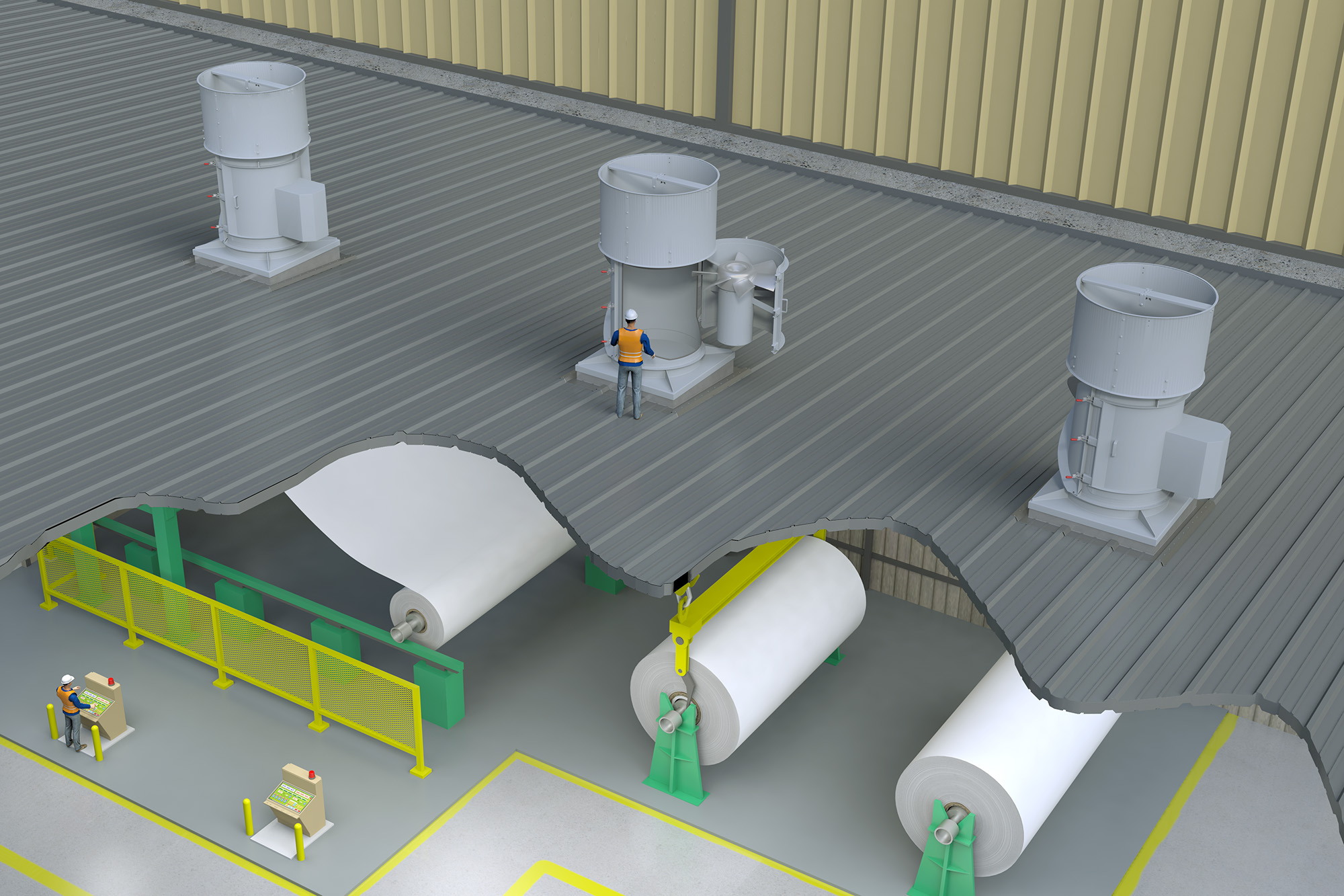 PTABD Paper Mill (Application) Modo Rendering