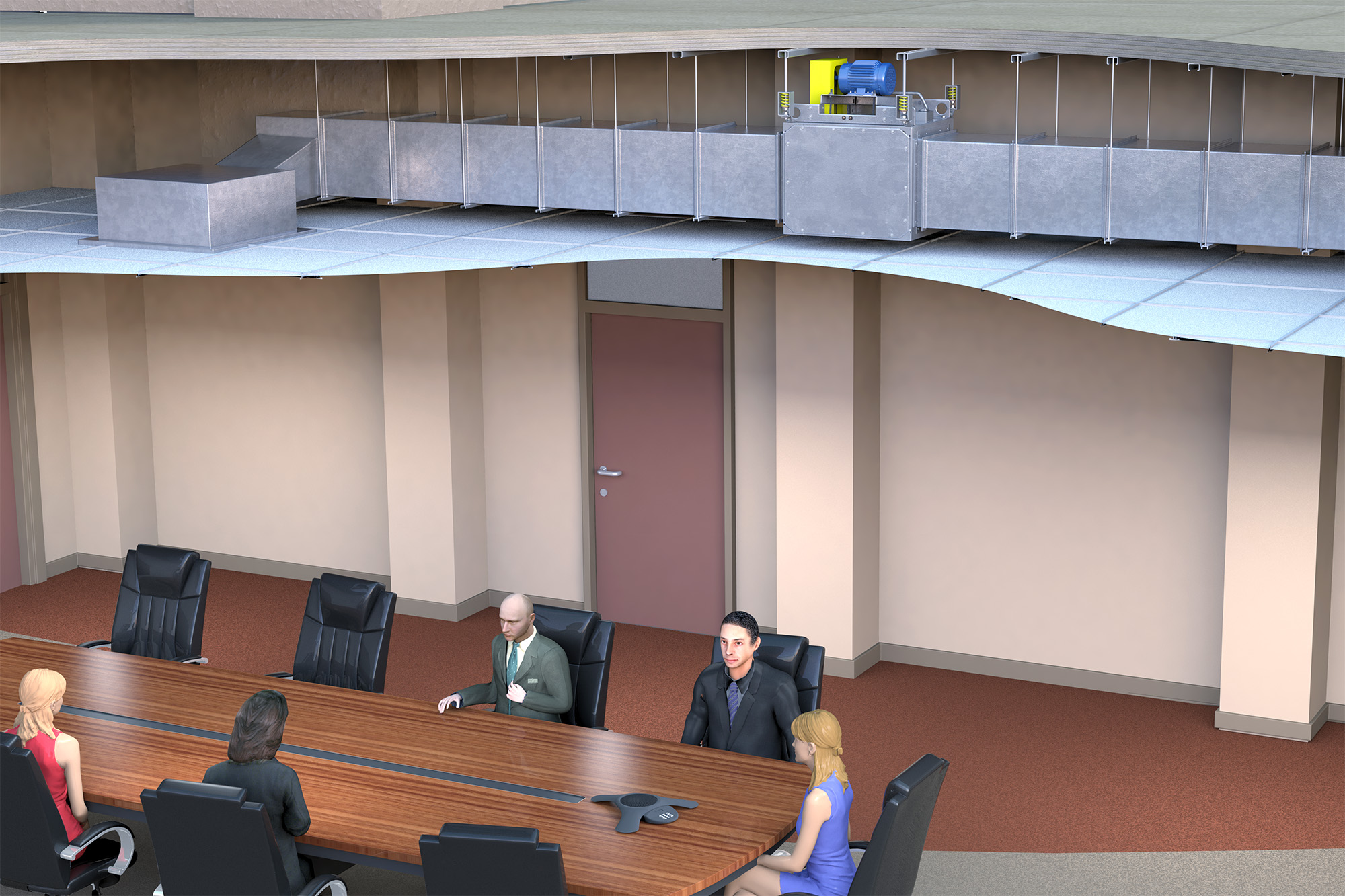SCBD Conference Room (Application) Modo Rendering