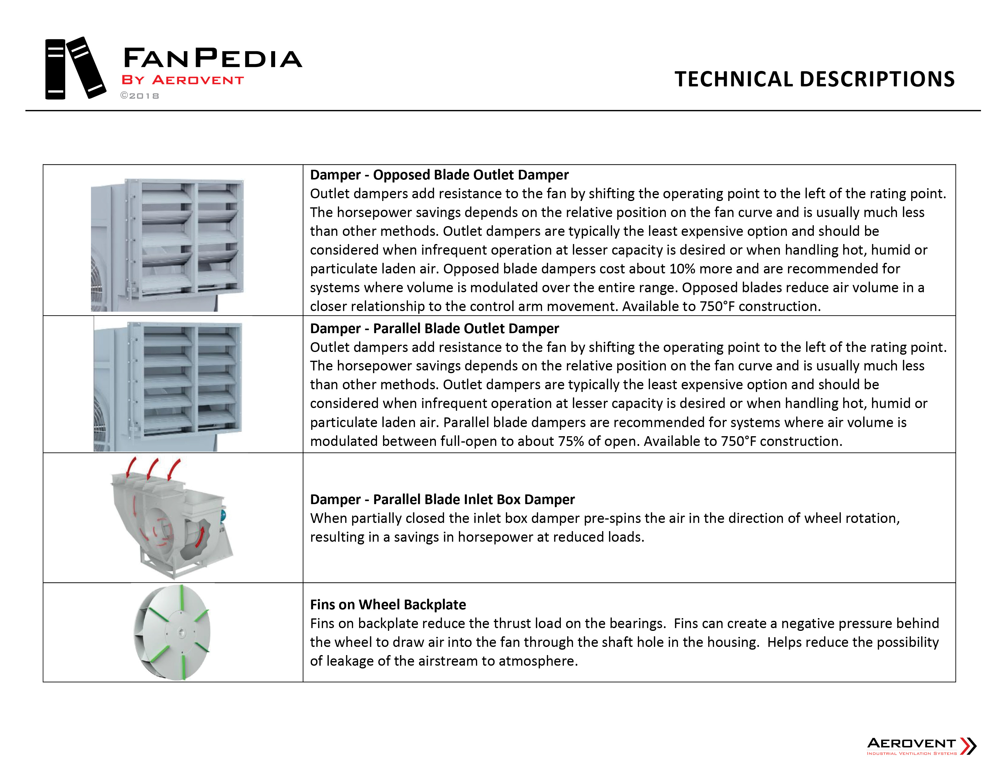 Technical Descriptions - AER FanPedia 19